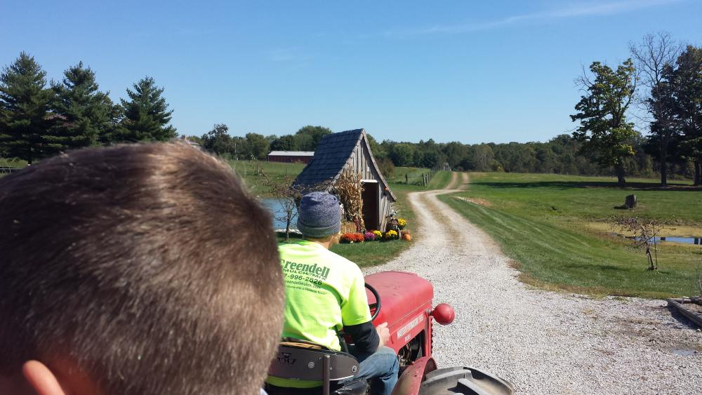 Hayride at Greendell Landscape Solutions Fall Festival