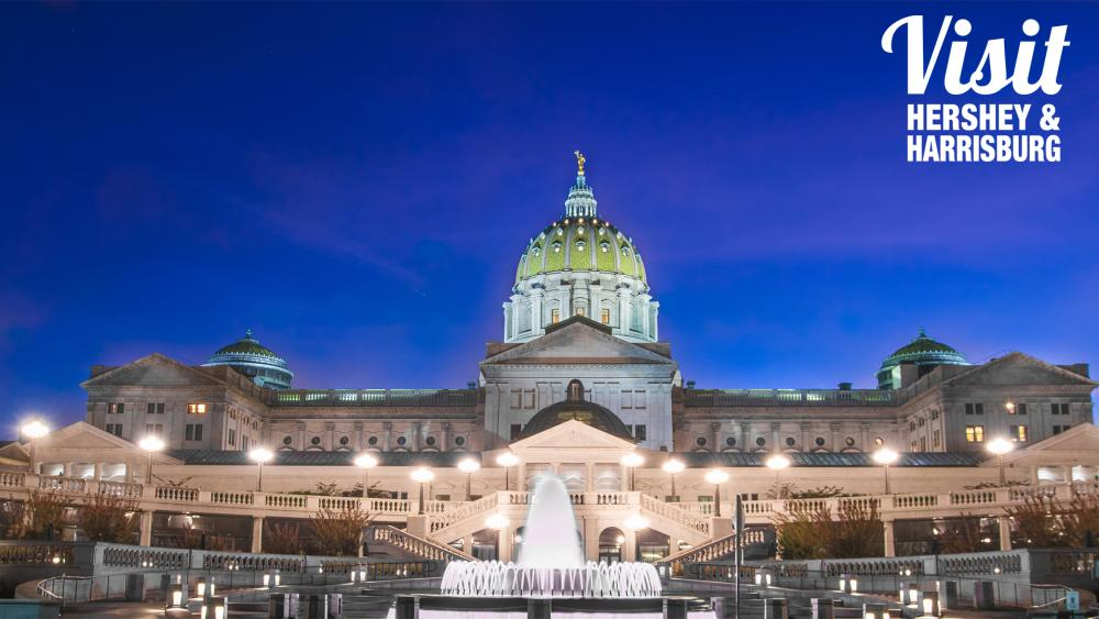 Pennsylvania State Capitol at night