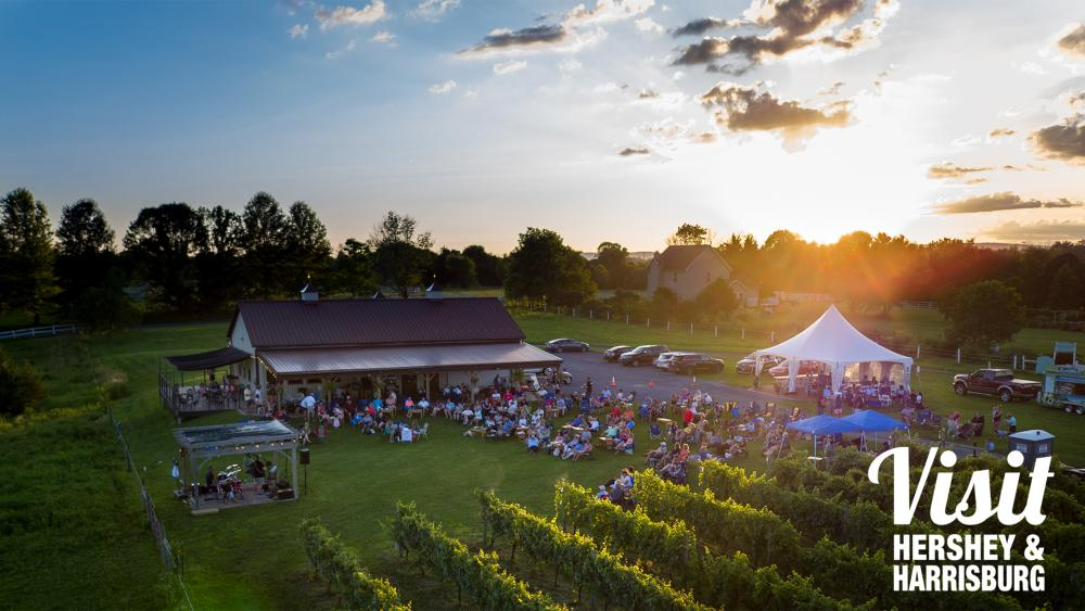Summer Winery Sunset