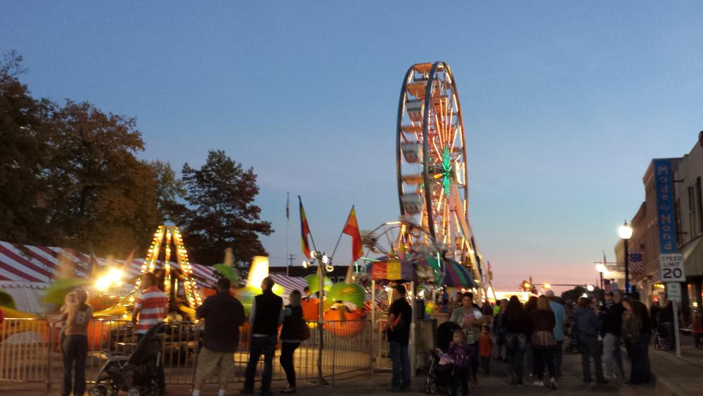 Fall Foliage Festival at Night