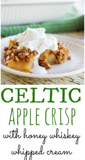 Celtic Apple Crisp Recipe Graphic