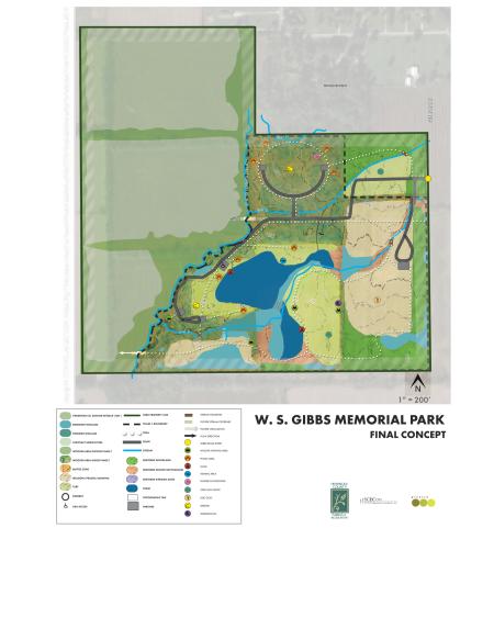 W.S. Gibbs Memorial Park final concept plan