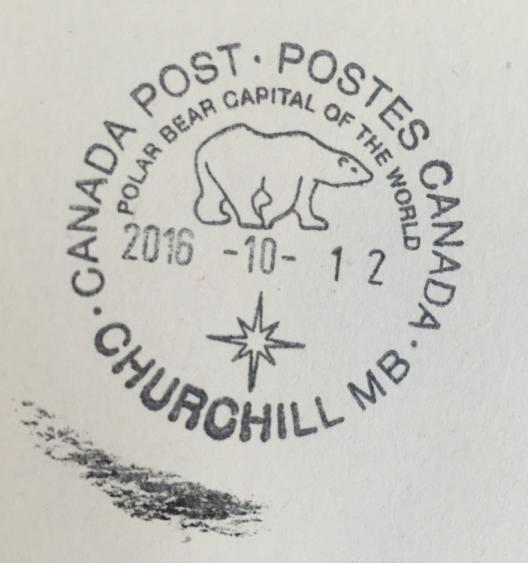 Passport stamp in Churchill, Manitoba