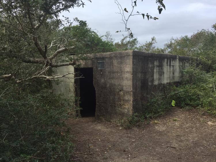 Fort Fisher hermit bunker on the grounds of Fort Fisher State Historic Site