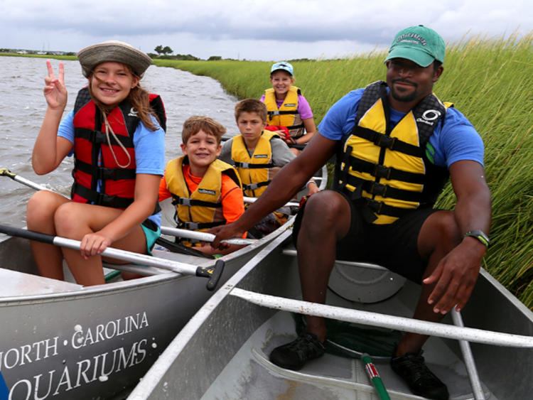 Aquarium Summer Camp Canoeing