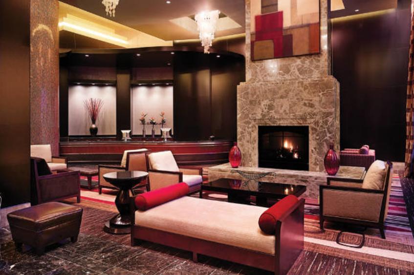 Ameristar Hotel Lobby Fireplace