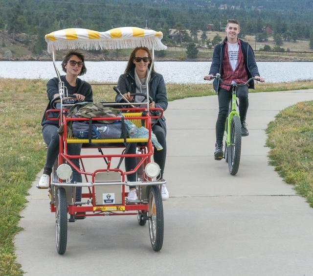 Bikes on Lake Estes Trail