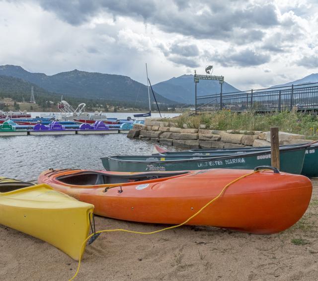 Kayaks at Marina