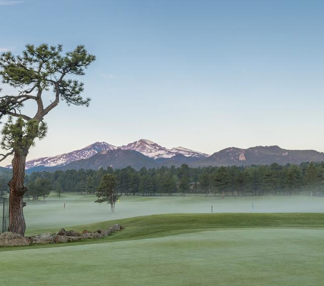 Morning Fog on Estes park 18-Hole Golf Course