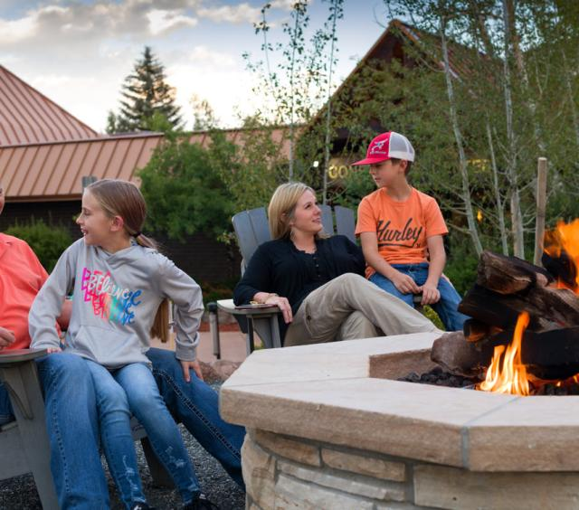 Family at Fire Pits