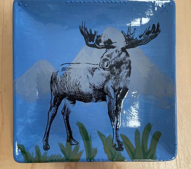 moose plate art