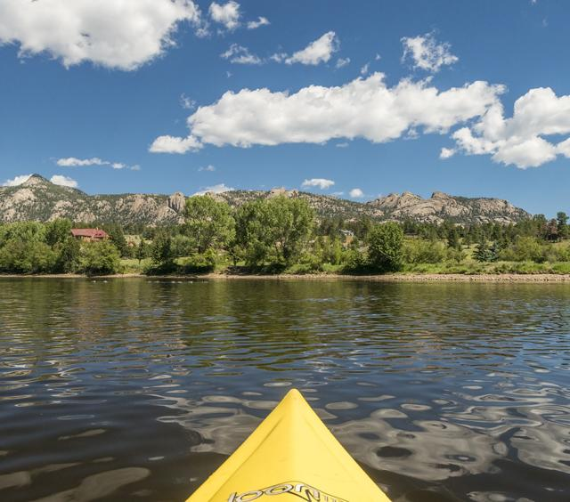 Kayaking on Lake Estes