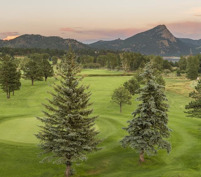 Lake Estes 9-Hole Golf Course at Sunset
