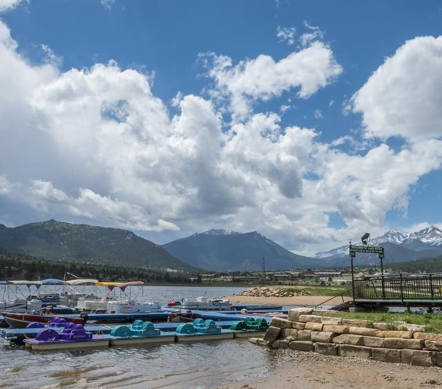 Boats at Lake Estes Marina