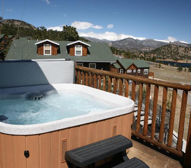 Hot Tub at Marys Lake Vacation Condos