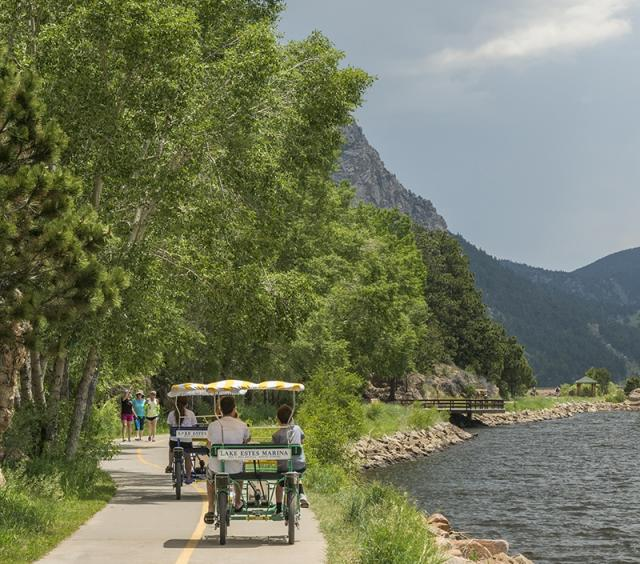 Pedal Carts Along the Lake Estes Trail