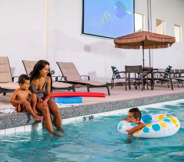 Pool W/ Family