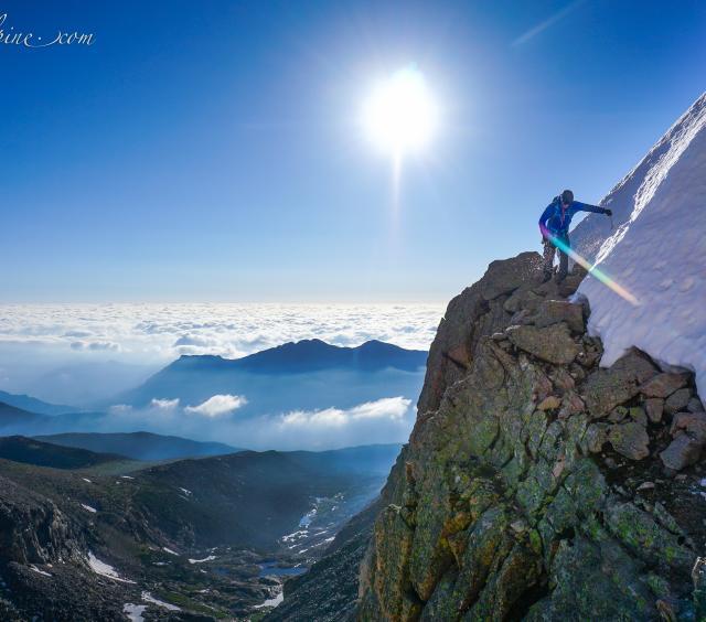 Climber on Longs Peak