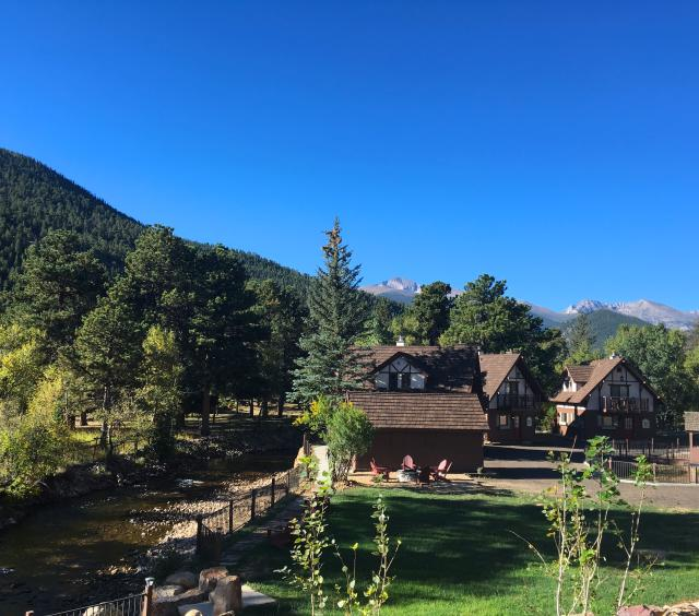 Toward the cabins from lodge