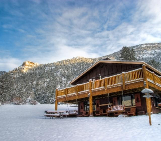 Winter Blue Skies at McGregor Lodge