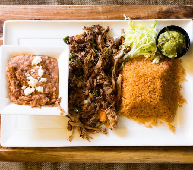 machaca meat plate