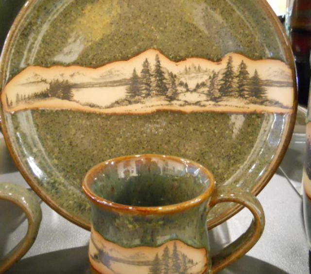 Mountain Wrap - Seamist Glaze