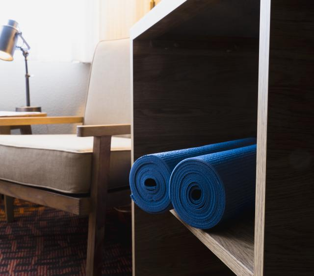 Yoga Mats in Guestrooms