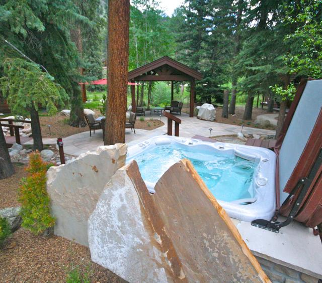 Hot tub and gazebo