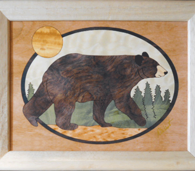 Brown Bear Marquetry