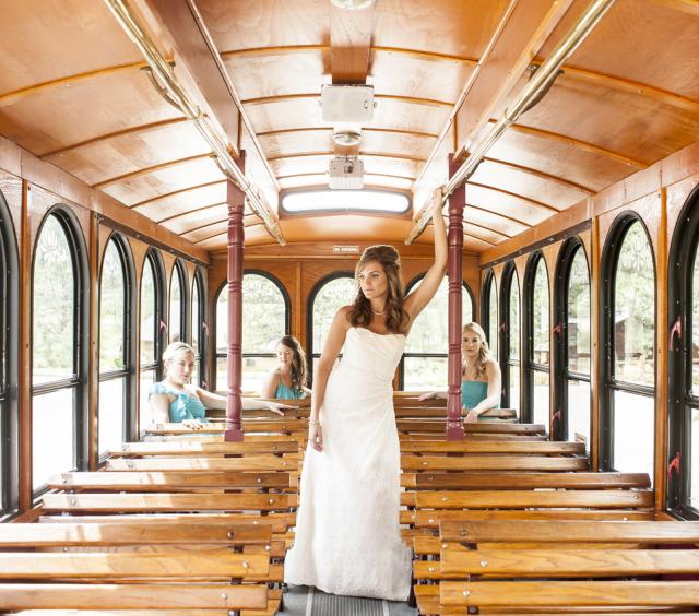 Beautiful Bride, On Her Way To The Ceremony