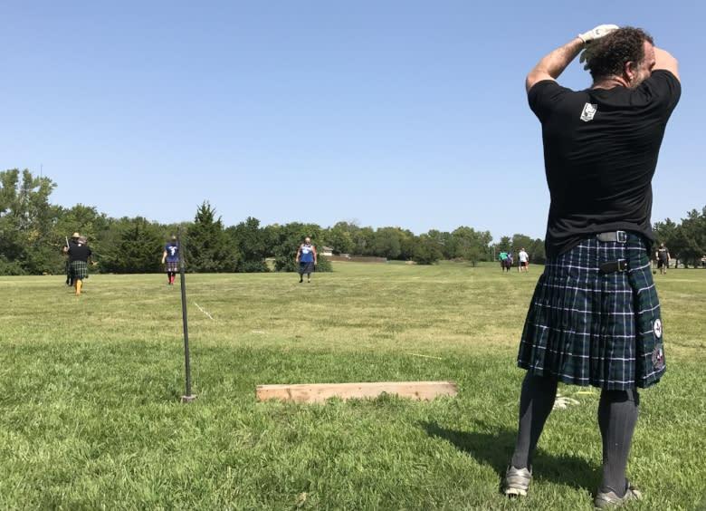 highland games kilt shot