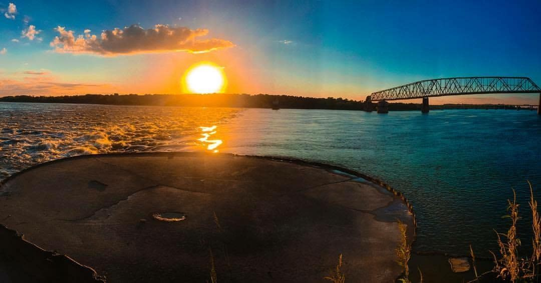 Chain Of Rocks Bridge Sunset