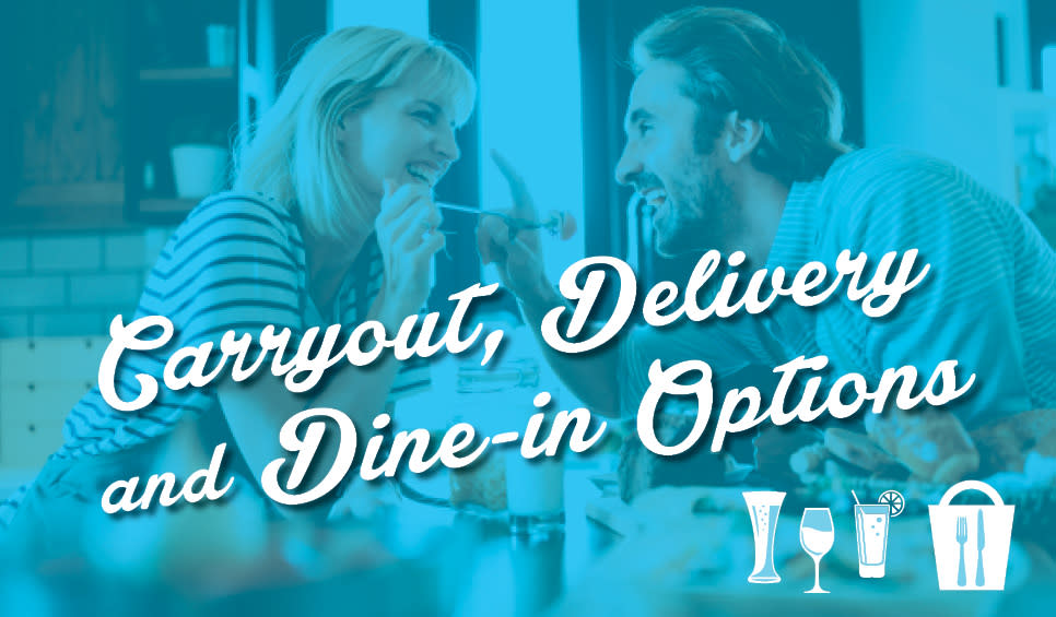 Carryout, Delivery and Dine In Options