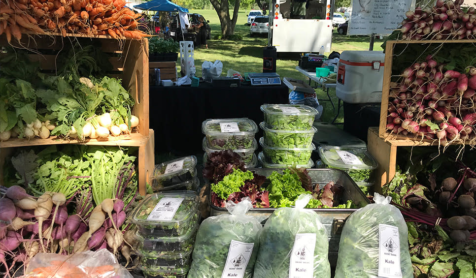 Cedar Lake Farmers Market produce