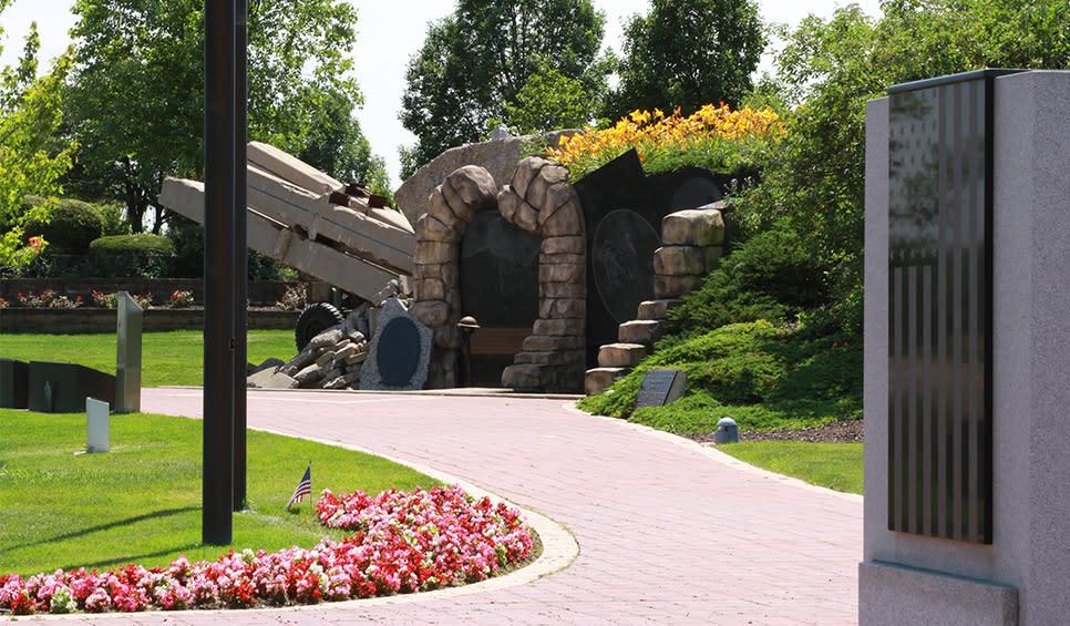 Community Veterans Memorial path