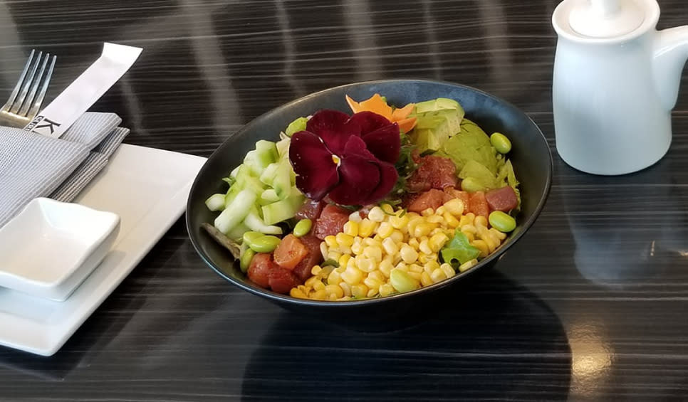Kitaro Surf & Turf and Sushi poke bowl