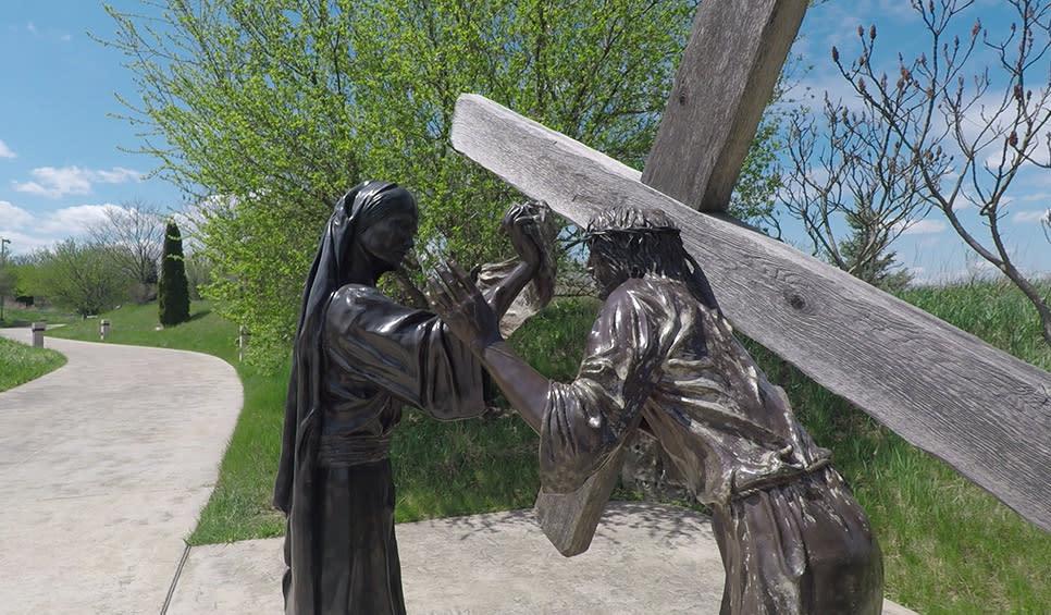 Shrine of Christ's Passion path