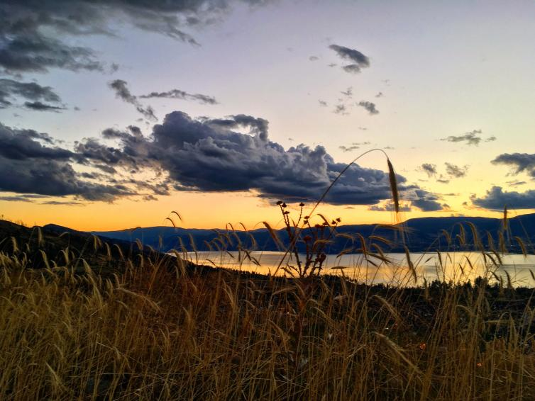 Sunset Over Okanagan Lake
