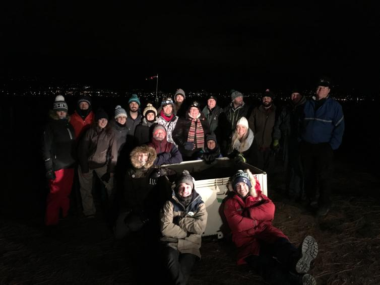 Tantalus 2016 Ice Wine Harvest Crew