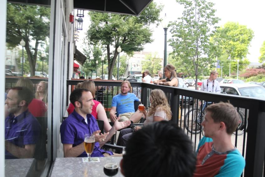Patio at The Tap