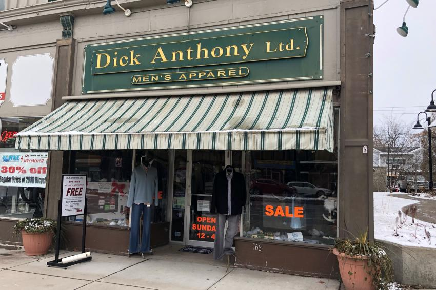 Dick Anthony's storefront in Canandaigua