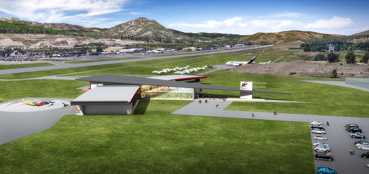 Kelowna Flight Aerospace New Building Rendering