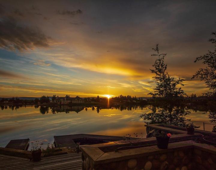 Sunset on Peger Lake - snowedin66