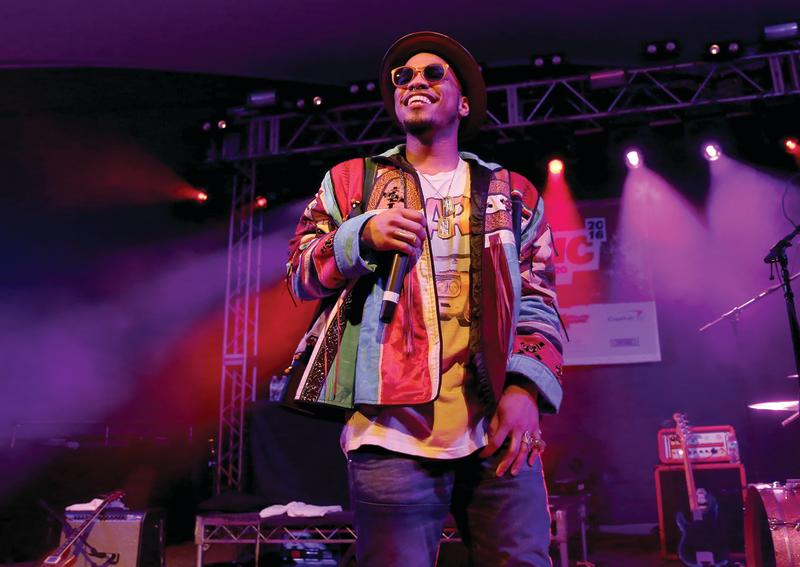Anderson Paak on stage at SXSW Music 2016
