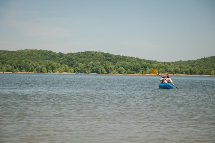 Monroe Lake Kayaker