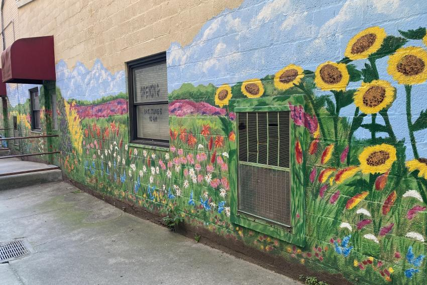 A Garden Stroll mural 2003