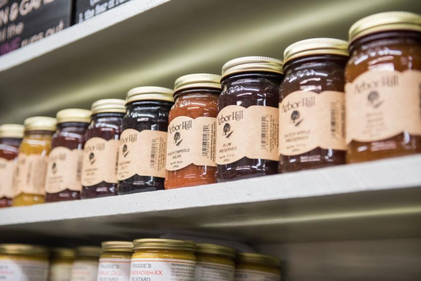 Jams and Sauces from Arbor Hill Grapery