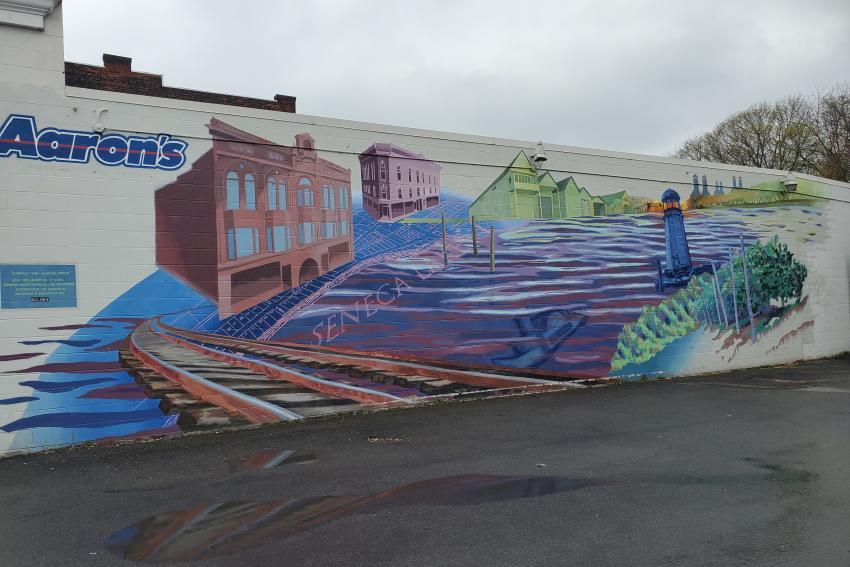 Arising Tide Geneva Cycle mural