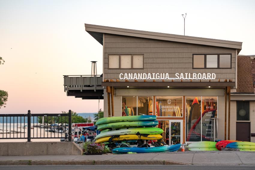 Canandaigua Sailboard Sunset