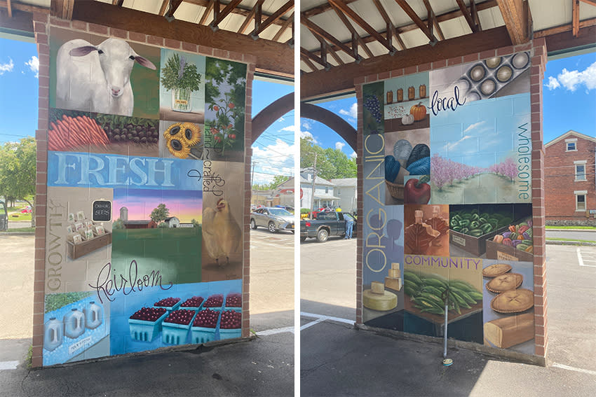 Mill Street Pavilion mural